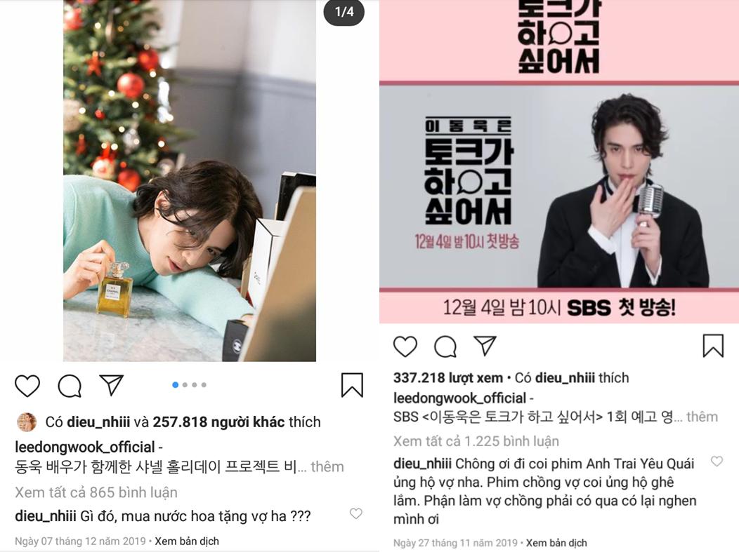 Diệu Nhi 'xưng vợ gọi chồng' với Lee Dong Wook.