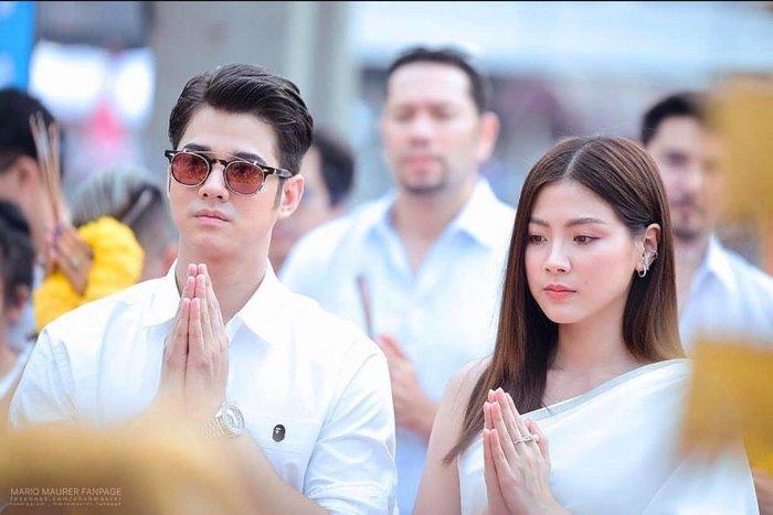 Baifern Pimchanok xinh đẹp sánh đôi cùng người tình 10 năm Mario Maurer tại lễ khai máy phim điện ảnh Laser Candy ảnh 1