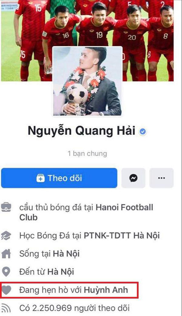 Quang Hải chính thức công khai hẹn hò với bạn gái mới Huỳnh Anh.